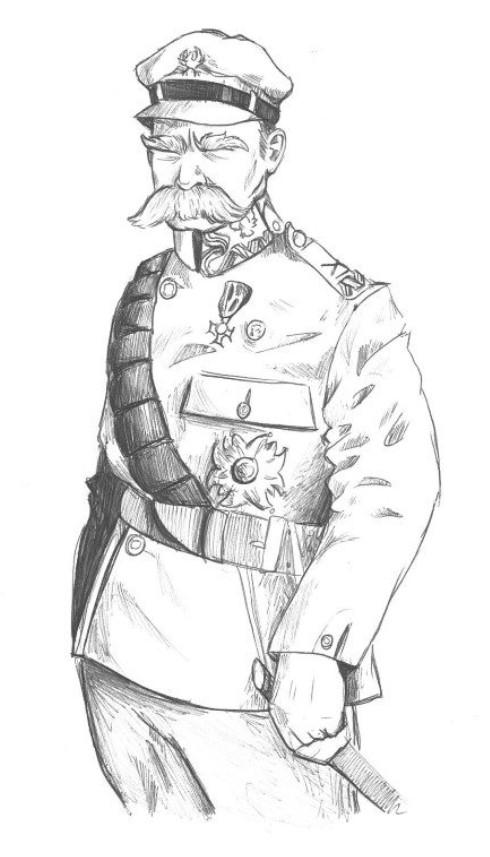 """Józef Pilsudski jako karciany """"Król"""""""