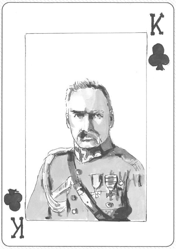 """Józef Piłsudski jako karciany """"Król"""""""