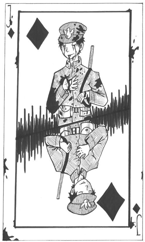 """Żołnierz Legionów jako karciany """"Walet"""""""