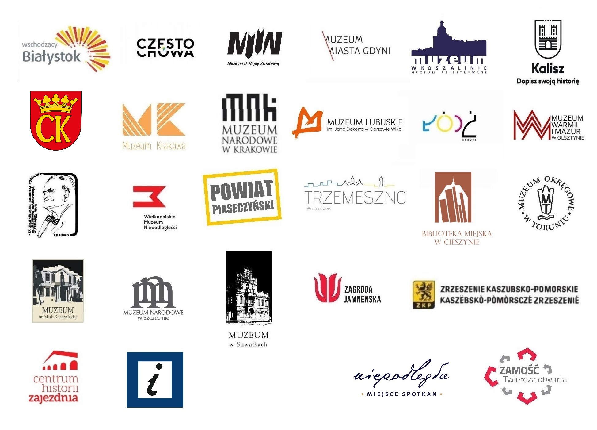 tablica z logotypami partnerów akcji