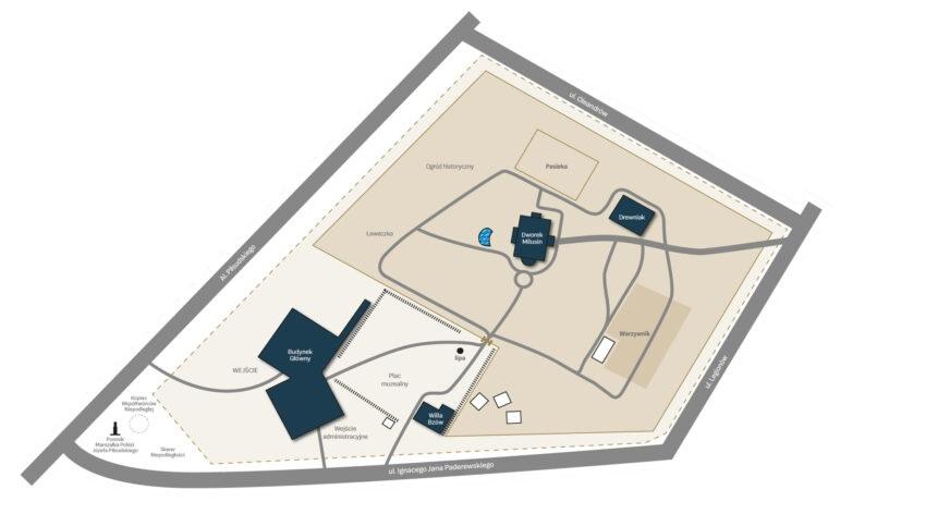 plan sytuacyjny terenu muzeum