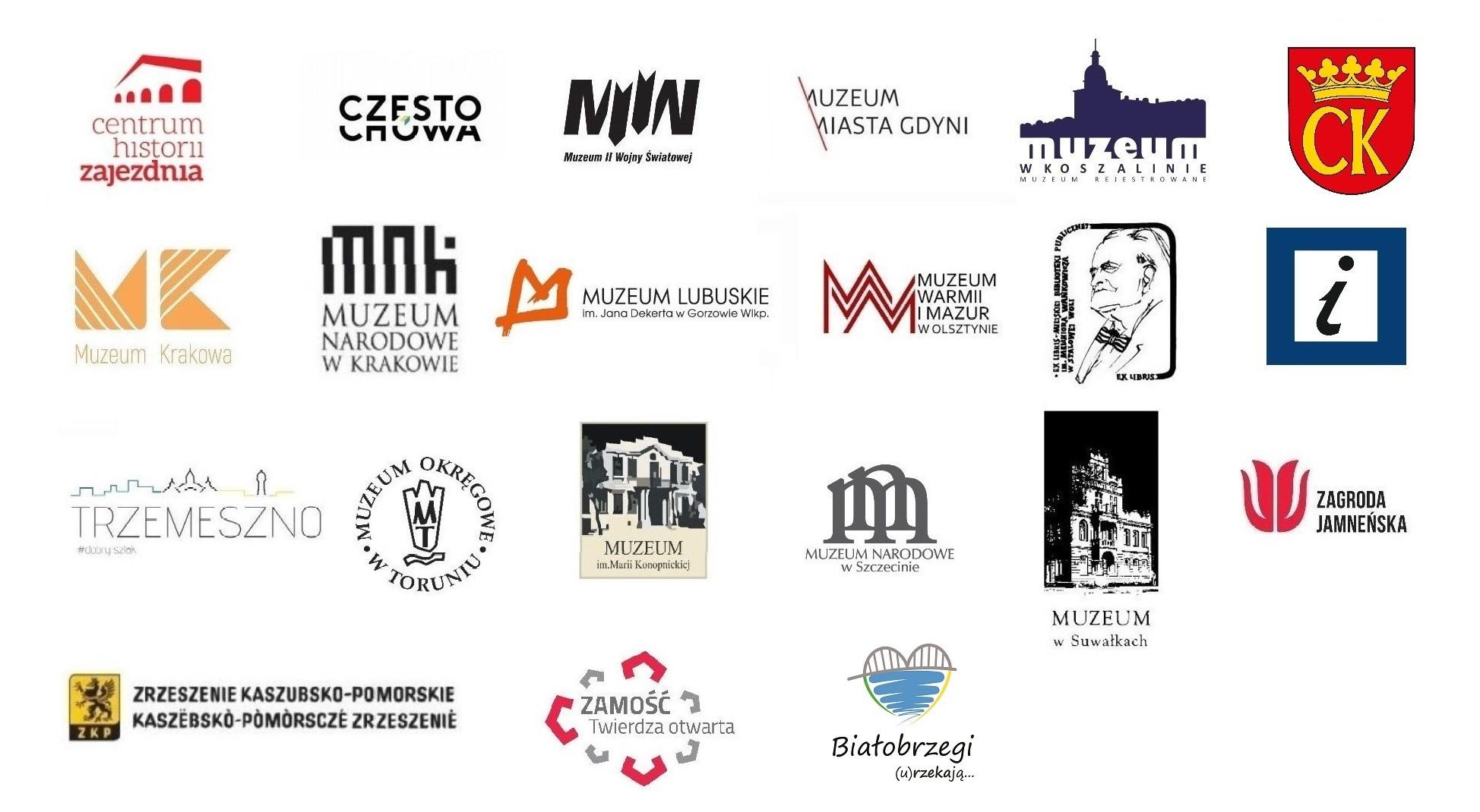 logotypy partnerów wykonawczych akcji
