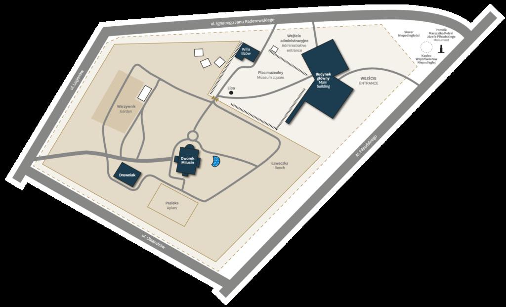 plan sytuacyjny Muzeum