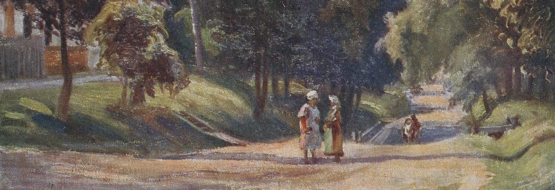 Druskieniki, droga z Poganki, malował Władysław Szulc