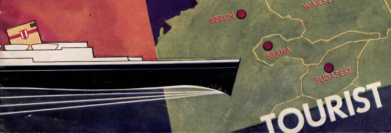 Fragment folderu reklamującego rejsy statkiem MS Piłsudski