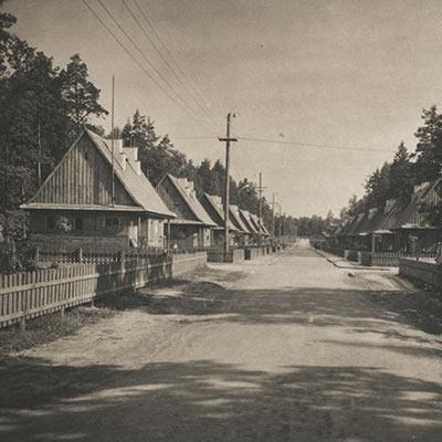 Janowa Dolina - zdjęcie głównej ulicy (okres przedwojenny)